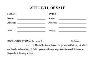 automobile bill of sale form - android-app.info