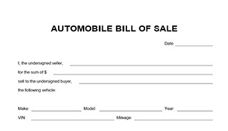 simple auto bill of sale form automobile bill of sale form simple auto