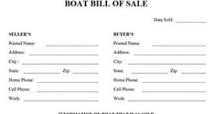 Lovely Boat Bill Of Sale Form With Free Printable Bill Of Sale For Boat