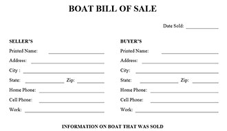 Great Bill Of Sale Form