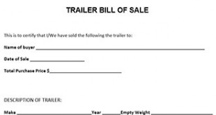 bill of sale for boat and trailer
