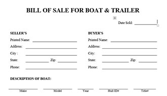 trailer bill of sale pdf trailer bill of sale nc - Daway.dabrowa.co