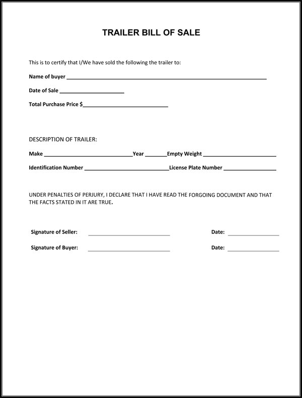 Bill of Sale Form Free Template for Car, Boat, Motorcycle, etc.