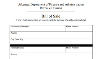 Arkansas Bill Of Sale >> Arkansas Bill Of Sale